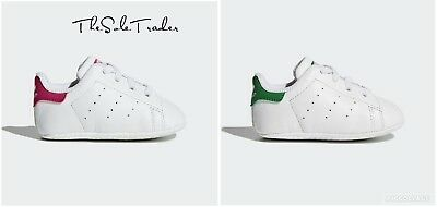 online store 431ef 2ca1d BABY ADIDAS STAN Smith Crib 1st White/Green B24101 White/Pink S82618 All  Sizes