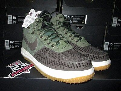 6fdca3e814d2 SALE NIKE Lunar Force 1 Duckboot BAROQUE BROWN ARMY OLIVE 805899 200 SZ 8-13