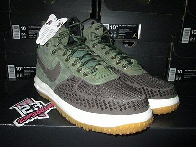 the best attitude c217d 7b8a7 SALE NIKE Lunar Force 1 Duckboot BAROQUE BROWN ARMY OLIVE 805899 200 SZ 8-13