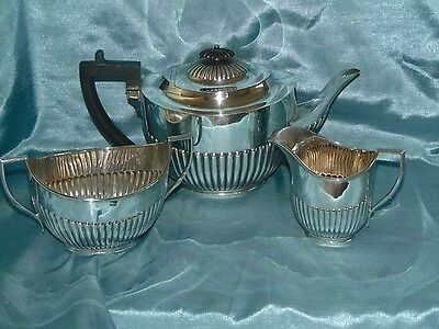 Stunning Antique Silver Plated Tea Set William Hutton Sheffield - Half Reeded!!
