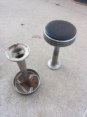 2 Early Chicago Hardware Foundry Company Soda Fountain Stools Ice Cream Parlor