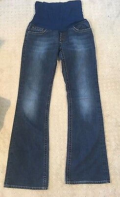 Women's maternity A PEA IN THE POD size XS, pull on,ROLLOVER,denim,boot fit jean