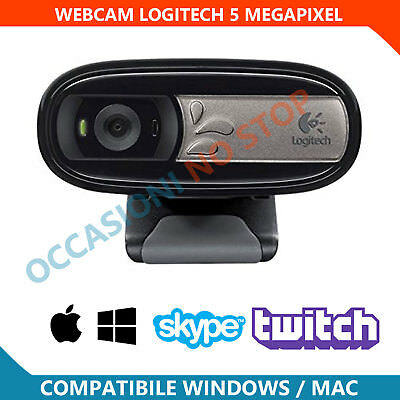 Webcam Logitech C170 HD 720p 3 Megapixel Microfono Integrato Usb 2.0