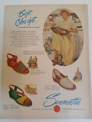 Original / Vintage Ad LUCILLE BALL (Lucy) SUMMERETTES Shoes