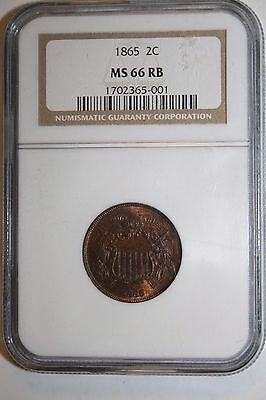 1865 MS 66 RB Two Cent NGC 2C