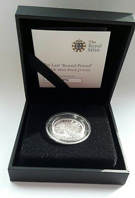 2016 Royal Mint - Last Round Pound £1 one pound Proof Silver Coin with COA 7033