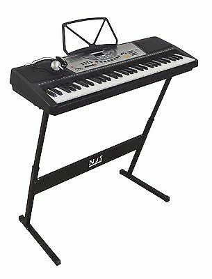 Njs800 61 Key Full Size Digital Electronic Keyboard With Stand & Headphones