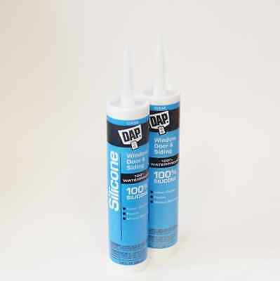 Clear Waterproof Silicone Sealant - Pack of two 9.8 oz. Cartridges