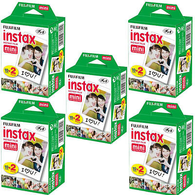 100 Sheets Fujifilm Instax Mini Instant Film Mini 90 8 25 Instant Camera SP-1