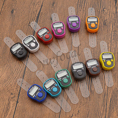 Mini Digit LCD Electronic Digital Golf Finger Hand Ring Tally Row Counter