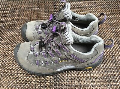 KEEN Hiking Shoes Sneakers Big Kids Children's Youth Purple Gray Sz 3