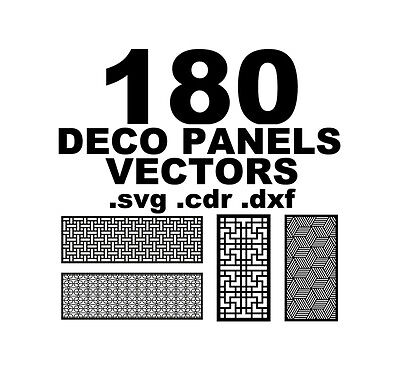180 Wall Panels Screen Wood Decoratives CNC Laser cdr dxf svg dwg