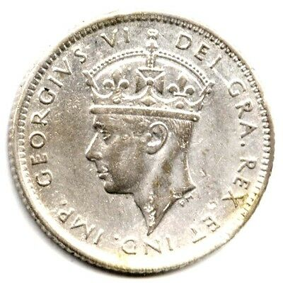 1945C NEWFOUNDLAND 10 CENTS Silver FREE S/H