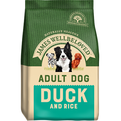 James Wellbeloved Adult Duck and Rice Hypoallergenic Gluten Free Dog Food 15kg