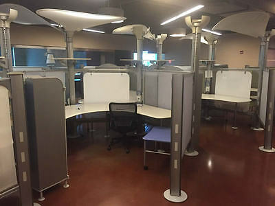 Herman Miller Resolve 6'x8′ Cubicles w/ Extended Boomerang Surface