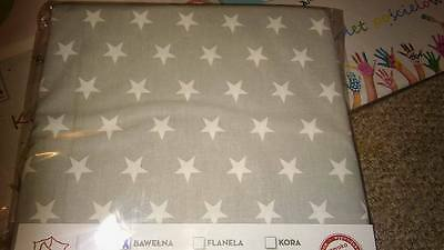 Baby Bedding Set 120X90cm, 2psc, STAR GREY, NEW! 100%cotton, from Poland,