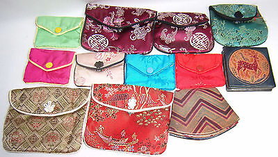 Lot of 12 Small Accessories Purses India Handmade Leather Vintage 2 Now Mini