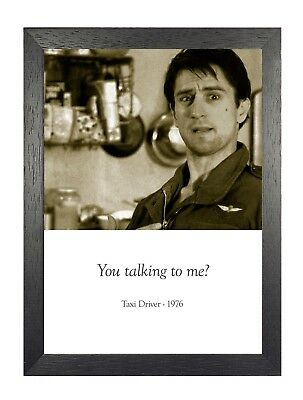 Taxi Driver Film Quote Retro You Talking To Me?! Vintage Photo Picture Poster
