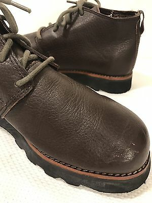 Men's SIMPLE Vintage Chukka Brown Leather Shoes Boots Size 12