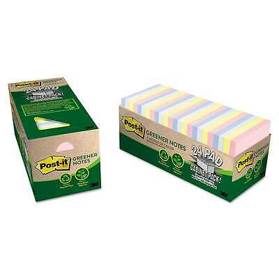 Post-it® Greener Notes Recycled Note Pad Cabinet Pack, 3 x 3, Asso 051135811320