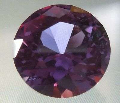 2.1 ct 8 mm Round Brilliant Solitaire Loose Color Change Alexandrite Gemstone