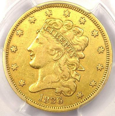 1836 Classic Gold Half Eagle $5 - PCGS XF Detail - Rare EF Certified Gold Coin!