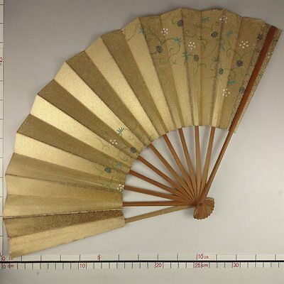 YU143 SENSU Japanese Fan Art painting Nihonga Picture Traditional crafts Vintage