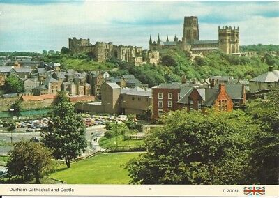 "Vintage collectible 4"" x 6"" POSTCARD Durham Cathedral & Castle England UK posted"