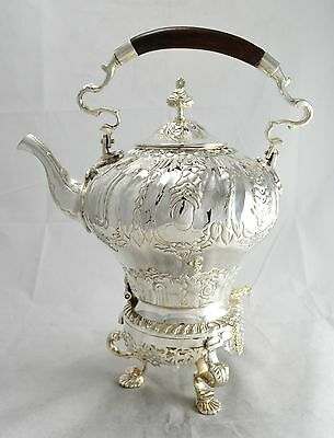N3612 Bellissimo Samovar Teiera In Argento Sheffield Collection
