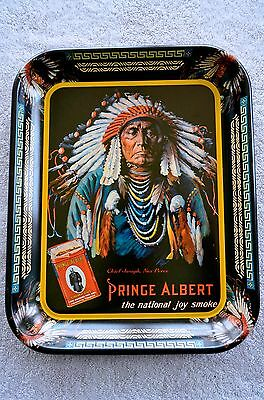Vintage Prince Albert Tobacco Advertising Serving Tray Chief Joseph Nez Perce