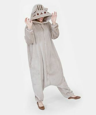 Pusheen The Cat Pajamas Kigurumi Hooded Onesie Zip Up Costume PU-33