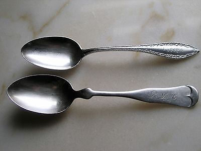 Lot of 2 Sterling Silver Teaspoons - A.F.Towle and International