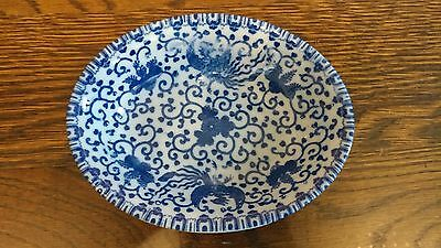 Antique Japanese Porcelain Arita / Imari Blue White Plate - Estate Sale