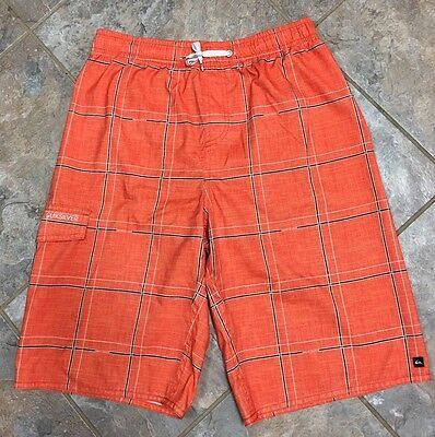 Quicksilver Orange Boys Swim Trunks Size X-Large (18-20)