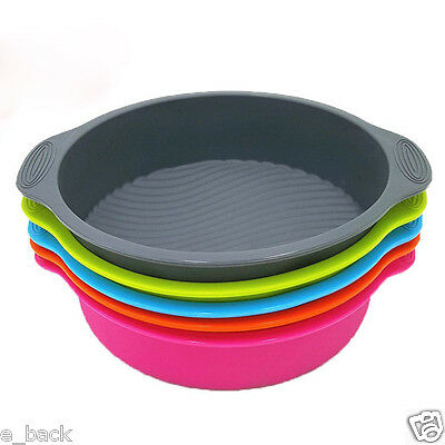 """9"""" DlY Cake Pan Shape 3D Silicone Cake Mold Baking Tools Bakeware Maker Tray CA"""