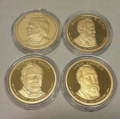 2011 S Presidential Dollar Set - Gem Proof - Deep Cameo 4 coins in capsules.