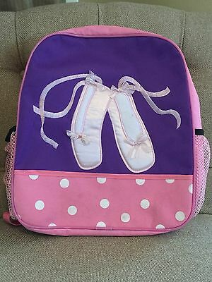 Girls Ballet Slippers Pink And Purple Backpack