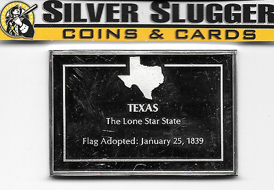 State of Texas 2.28 oz (1000 grains) sterling silver bar Franklin Mint