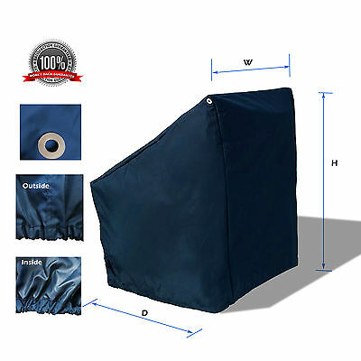 """WaterProof Heavy duty Boat Center Console Cover Fits up 46""""Wx40""""Dx45""""H Navy"""