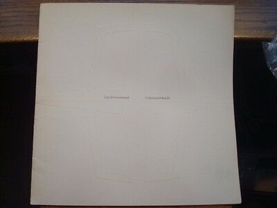 """1973, Dealer Brochure, """"LINCOLN"""", Continental/Mark IV, 19 pages      (NN)"""