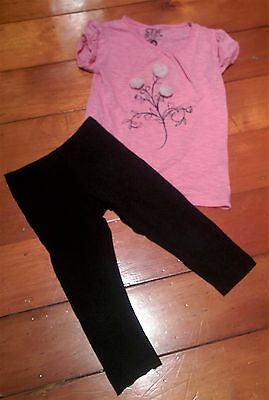 2x GIRLS BULK SIZE 6 PREOWNED T-Shirt Pants Clothes