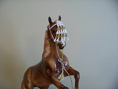 CM Breyer or Peter Stone Andalusian or Spanish halter with mosquero 432 white
