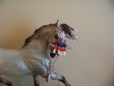 CM Breyer or Peter Stone Andalusian or Spanish halter with mosquero 435 patriot