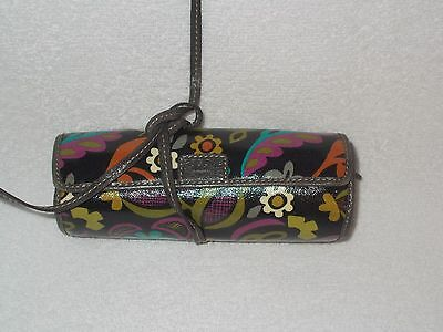 Fossil Floral Bird Key- Per Coated Canvas Jewelry Case