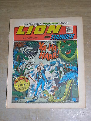 Lion & Thunder 18th August 1973