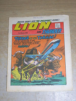Lion & Thunder 2 nd March 1974