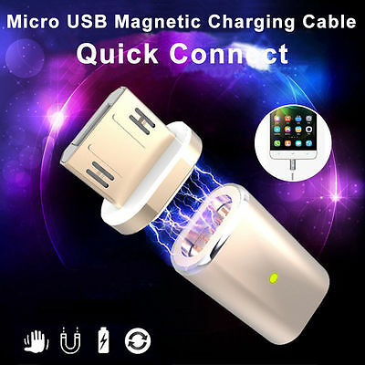Micro USB Fast Charger Cable Magnetic Adapter Lead for Samsung HTC Android Phone
