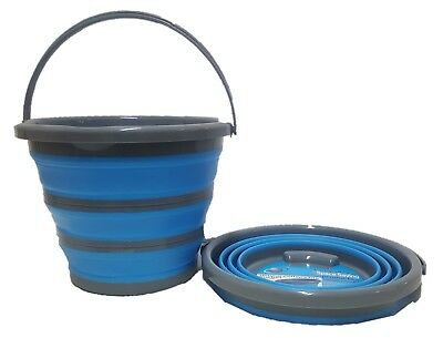Collapsible Silicone Deluxe 10Ltr Reinforced Bucket Caravan Camping