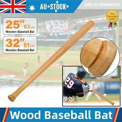 "NEW 24""25""32"" Outdoor Wood Baseball Bat Wooden Softball Bat 60/63/81cm GOOD MQ"