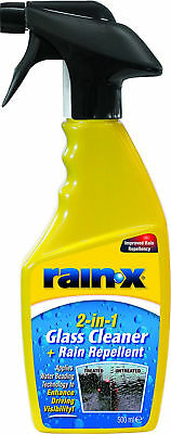 2 in 1 Rain Repellent & Glass Cleaner Enhance Driving Visibility Remove Bugs Ice